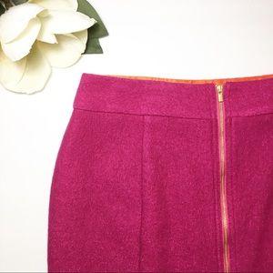 Banana Republic Magenta Pencil Skirt